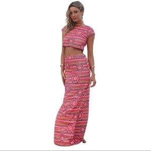 Pink sequin Saboskirt formal dress